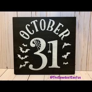 October 31 Sign